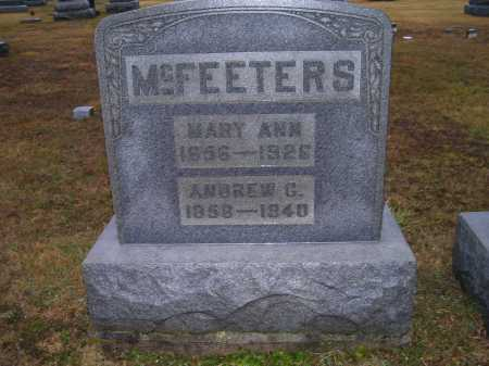 MCFEETERS, ANDREW G. - Adams County, Ohio | ANDREW G. MCFEETERS - Ohio Gravestone Photos