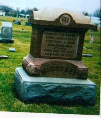 HOLMES MCGOVNEY, SARAH - Adams County, Ohio   SARAH HOLMES MCGOVNEY - Ohio Gravestone Photos