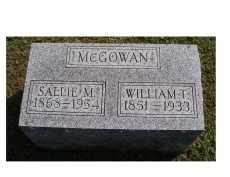 MCGOWAN, SALLIE M. - Adams County, Ohio | SALLIE M. MCGOWAN - Ohio Gravestone Photos