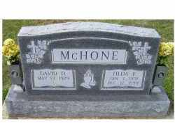 MCHONE, DAVID D. - Adams County, Ohio | DAVID D. MCHONE - Ohio Gravestone Photos