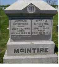 MCINTIRE, ANDREW - Adams County, Ohio | ANDREW MCINTIRE - Ohio Gravestone Photos