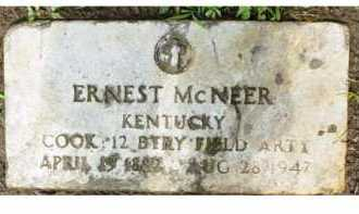 MCNEER, ERNEST - Adams County, Ohio | ERNEST MCNEER - Ohio Gravestone Photos
