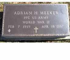 MEEKER, ADRIAN H. - Adams County, Ohio   ADRIAN H. MEEKER - Ohio Gravestone Photos