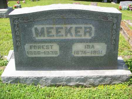 MEEKER, FOREST - Adams County, Ohio | FOREST MEEKER - Ohio Gravestone Photos