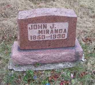 MIRANDA, JOHN J. - Adams County, Ohio   JOHN J. MIRANDA - Ohio Gravestone Photos