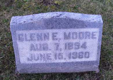 MOORE, GLENN E. - Adams County, Ohio | GLENN E. MOORE - Ohio Gravestone Photos