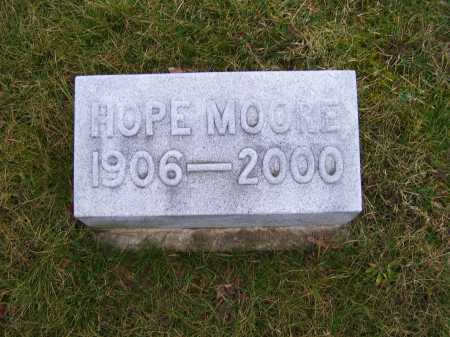 MOORE, HOPE - Adams County, Ohio | HOPE MOORE - Ohio Gravestone Photos