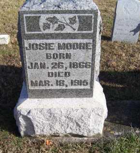 MOORE, JOSIE - Adams County, Ohio   JOSIE MOORE - Ohio Gravestone Photos