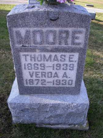 MOORE, THOMAS E. - Adams County, Ohio   THOMAS E. MOORE - Ohio Gravestone Photos