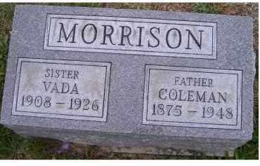 MORRISON, COLEMAN - Adams County, Ohio | COLEMAN MORRISON - Ohio Gravestone Photos