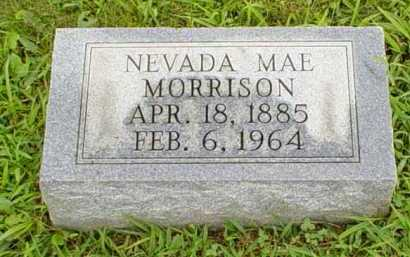 MORRISON, NEVADA MAE - Adams County, Ohio | NEVADA MAE MORRISON - Ohio Gravestone Photos
