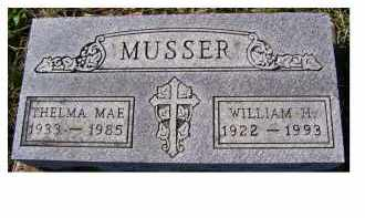 MUSSER, WILLIAM H. - Adams County, Ohio | WILLIAM H. MUSSER - Ohio Gravestone Photos