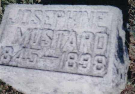 MUSTARD, JOSEPHINE - Adams County, Ohio | JOSEPHINE MUSTARD - Ohio Gravestone Photos
