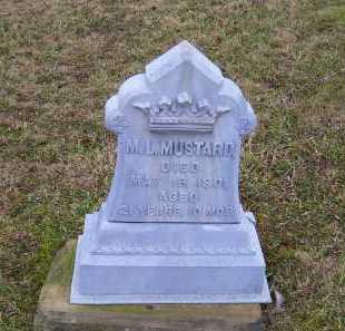 MUSTARD, M. L. - Adams County, Ohio   M. L. MUSTARD - Ohio Gravestone Photos