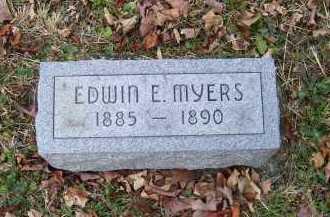 MYERS, EDWIN E. - Adams County, Ohio | EDWIN E. MYERS - Ohio Gravestone Photos