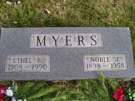 MYERS, NOBLE J. - Adams County, Ohio | NOBLE J. MYERS - Ohio Gravestone Photos