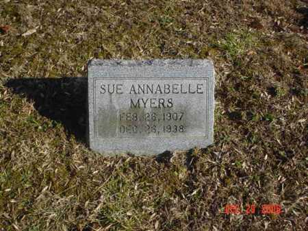 MYERS, SUE ANNABELLE - Adams County, Ohio   SUE ANNABELLE MYERS - Ohio Gravestone Photos