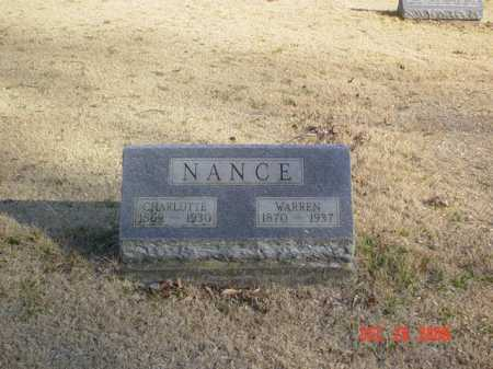 NANCE, CHARLOTTE - Adams County, Ohio | CHARLOTTE NANCE - Ohio Gravestone Photos