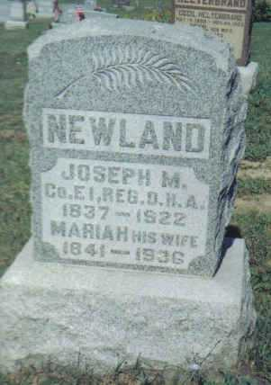 NEWLAND, MARIAH - Adams County, Ohio   MARIAH NEWLAND - Ohio Gravestone Photos