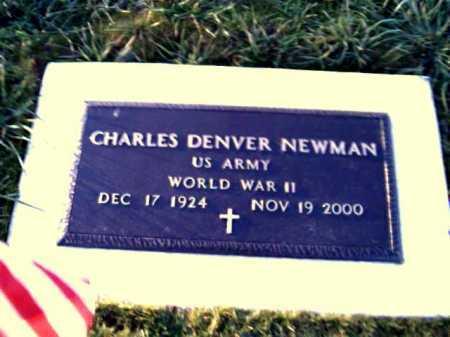 NEWMAN, CHARLES DENVER - Adams County, Ohio   CHARLES DENVER NEWMAN - Ohio Gravestone Photos