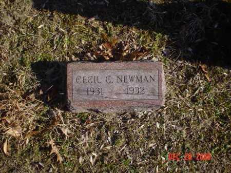 NEWMAN, CECIL C. - Adams County, Ohio   CECIL C. NEWMAN - Ohio Gravestone Photos