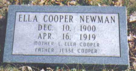 NEWMAN, ELLA - Adams County, Ohio   ELLA NEWMAN - Ohio Gravestone Photos