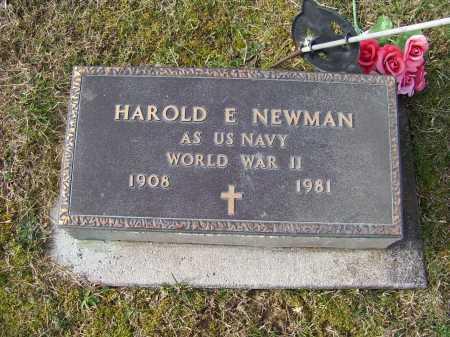 NEWMAN, HAROLD E. - Adams County, Ohio   HAROLD E. NEWMAN - Ohio Gravestone Photos