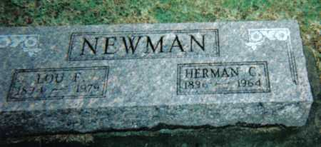 NEWMAN, LOU F. - Adams County, Ohio | LOU F. NEWMAN - Ohio Gravestone Photos