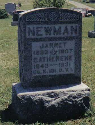 NEWMAN, JARRET - Adams County, Ohio | JARRET NEWMAN - Ohio Gravestone Photos