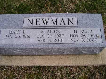 NEWMAN, B. ALICE - Adams County, Ohio | B. ALICE NEWMAN - Ohio Gravestone Photos