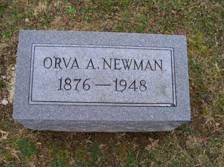 NEWMAN, ORVA A. - Adams County, Ohio   ORVA A. NEWMAN - Ohio Gravestone Photos