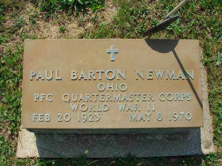 NEWMAN, PAUL BARTON - Adams County, Ohio | PAUL BARTON NEWMAN - Ohio Gravestone Photos