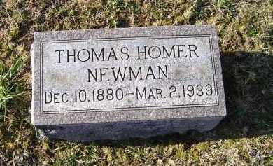NEWMAN, THOMAS HOMER - Adams County, Ohio | THOMAS HOMER NEWMAN - Ohio Gravestone Photos