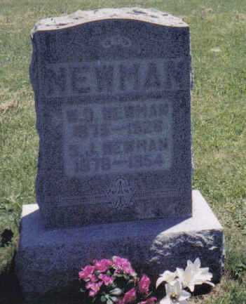 NEWMAN, W.D. - Adams County, Ohio | W.D. NEWMAN - Ohio Gravestone Photos