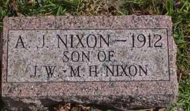 NIXON, A.J. - Adams County, Ohio   A.J. NIXON - Ohio Gravestone Photos