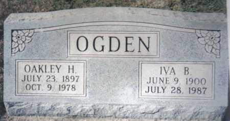 OGDEN, OAKLEY H. - Adams County, Ohio   OAKLEY H. OGDEN - Ohio Gravestone Photos
