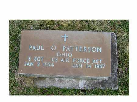 PATTERSON, PAUL O. - Adams County, Ohio   PAUL O. PATTERSON - Ohio Gravestone Photos