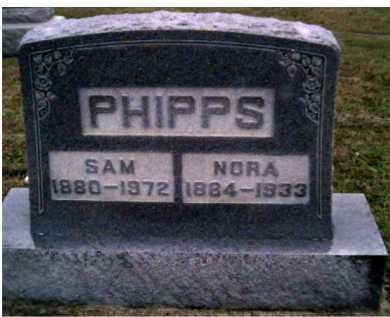 PHIPPS, NORA - Adams County, Ohio | NORA PHIPPS - Ohio Gravestone Photos
