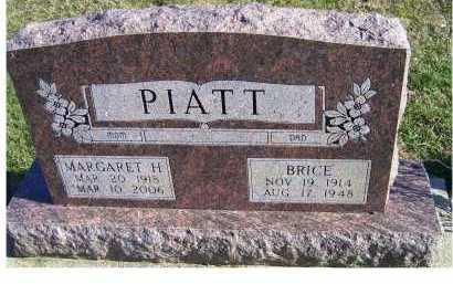 PIATT, MARGARET H. - Adams County, Ohio | MARGARET H. PIATT - Ohio Gravestone Photos