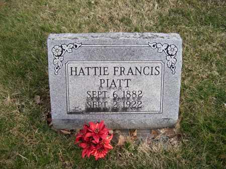 PIATT, HATTIE FRANCIS - Adams County, Ohio | HATTIE FRANCIS PIATT - Ohio Gravestone Photos