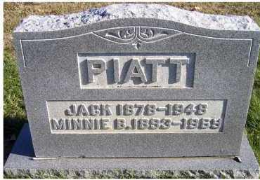 PIATT, MINNIE B. - Adams County, Ohio | MINNIE B. PIATT - Ohio Gravestone Photos