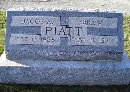 PIATT, AURA M. - Adams County, Ohio | AURA M. PIATT - Ohio Gravestone Photos