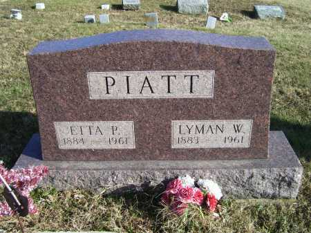 PIATT, LYMAN W. - Adams County, Ohio | LYMAN W. PIATT - Ohio Gravestone Photos