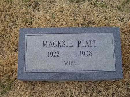 PIATT, MACKSIE - Adams County, Ohio | MACKSIE PIATT - Ohio Gravestone Photos