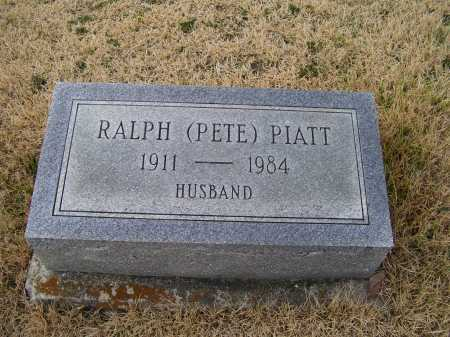 PIATT, RALPH (PETE) - Adams County, Ohio   RALPH (PETE) PIATT - Ohio Gravestone Photos