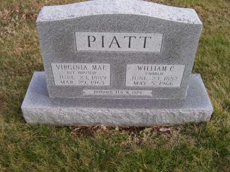 PIATT, WILLIAM C. (CHARLIE) - Adams County, Ohio   WILLIAM C. (CHARLIE) PIATT - Ohio Gravestone Photos