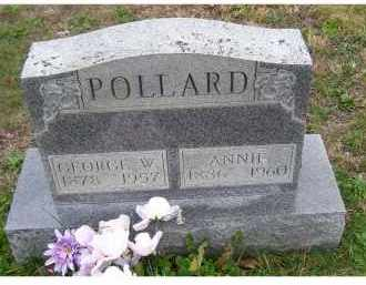 POLLARD, ANNIE - Adams County, Ohio | ANNIE POLLARD - Ohio Gravestone Photos