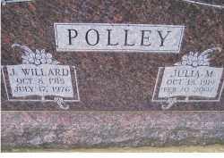 POLLEY, J. WILLARD - Adams County, Ohio | J. WILLARD POLLEY - Ohio Gravestone Photos