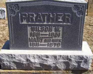 PRATHER, WILSON W. - Adams County, Ohio   WILSON W. PRATHER - Ohio Gravestone Photos