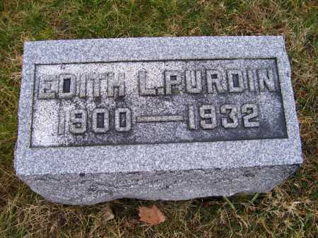 PURDIN, EDITH L. - Adams County, Ohio | EDITH L. PURDIN - Ohio Gravestone Photos